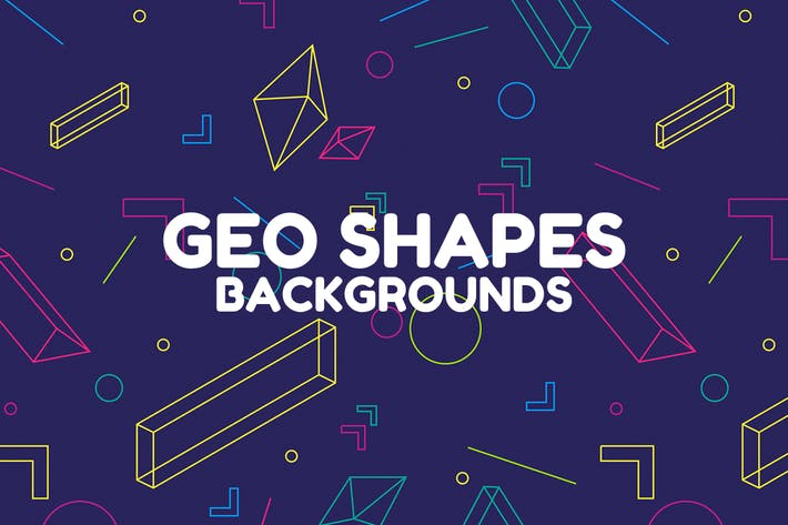 Thumbnail for Abstract Geo Shapes Backgrounds