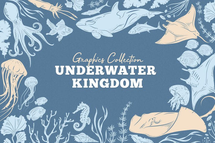 Thumbnail for Underwater Kingdom Graphics Toolkit