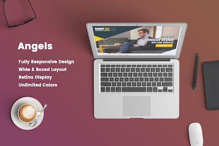 Angels – Clean & Creative vCard Portfolio Template