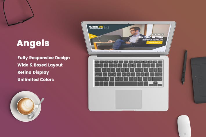 Thumbnail for Angels – Clean & Creative vCard Portfolio Template