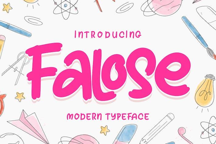 Thumbnail for Falose | Modern Typeface Font