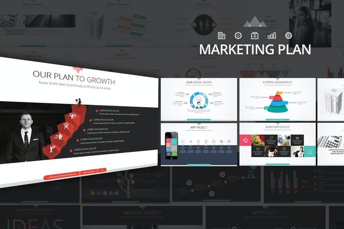 Thumbnail for Marketing Plan Google Slides