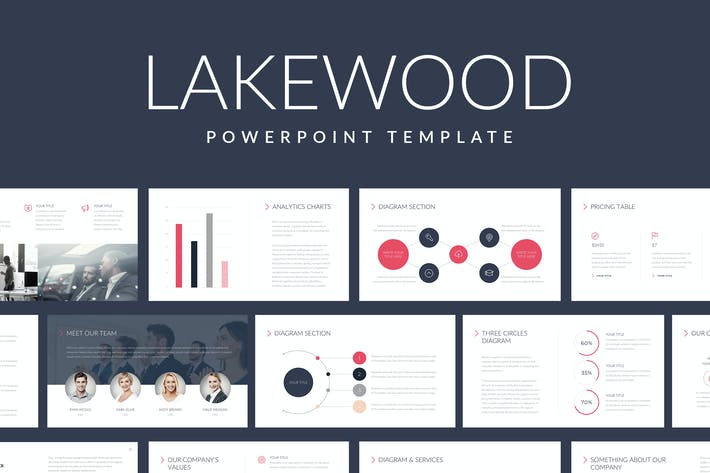 Thumbnail for Lakewood Professional Powerpoint Template