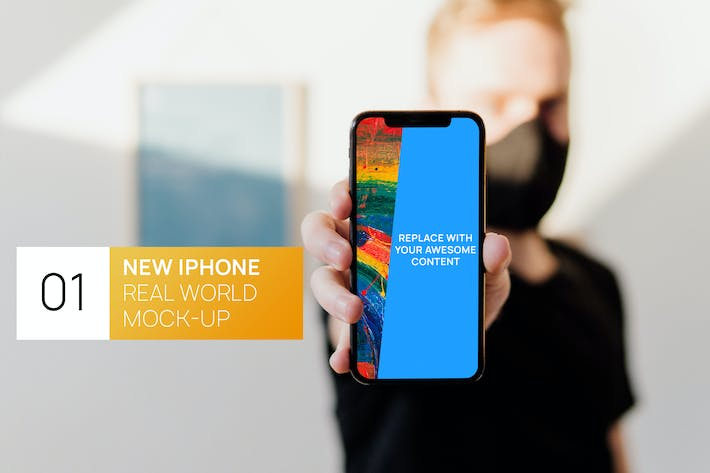 Thumbnail for New iPhone 11 Pro in Hand Real World Mock-up