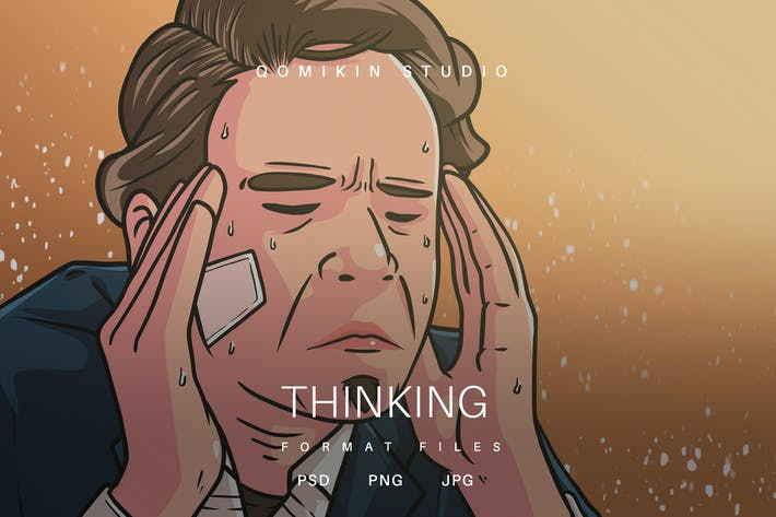 Thumbnail for Thinking Illustration