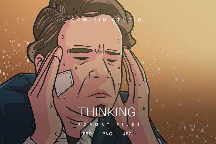 Thumbnail for Denkende Illustration