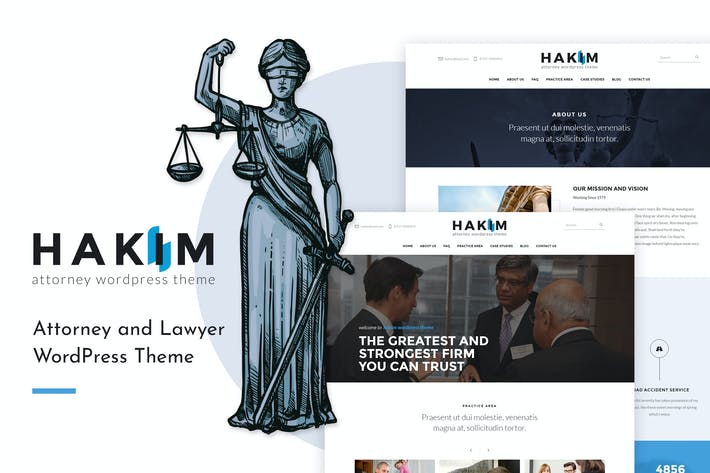 Thumbnail for Hakim | Attorney and Lawyer WordPress Theme