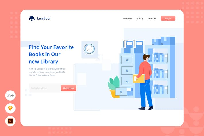 Thumbnail for Library - Website Header - Illustration