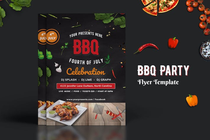 bbq party flyer 01 by digitalheaps on envato elements