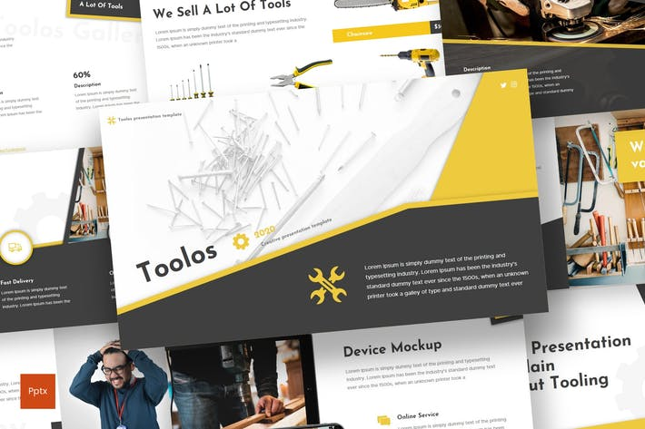 Thumbnail for Toolos - Powerpoint Template