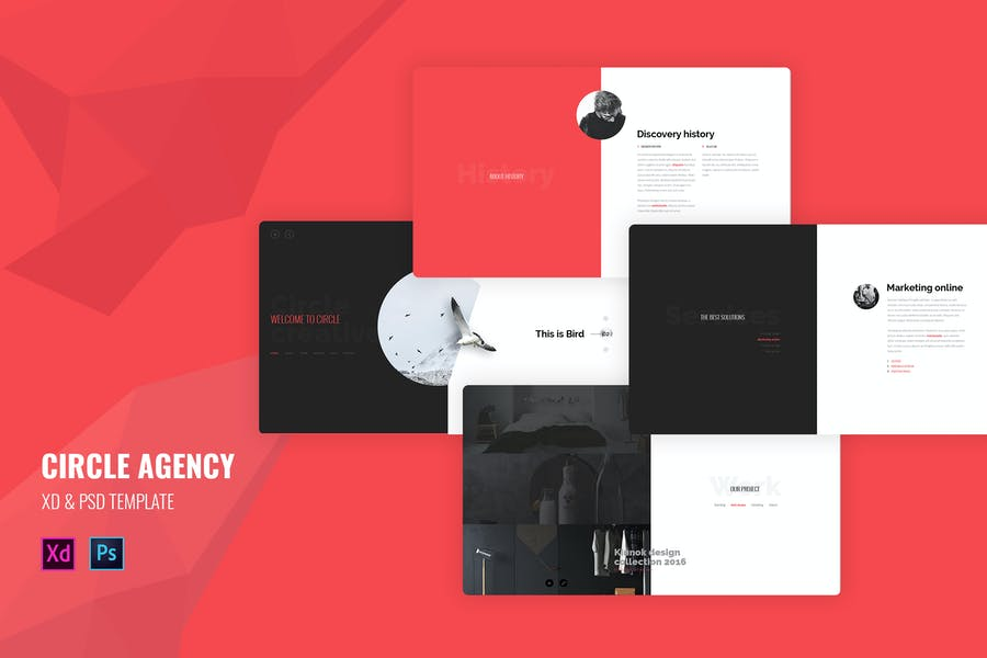 Circle Agency - Creative landing page template