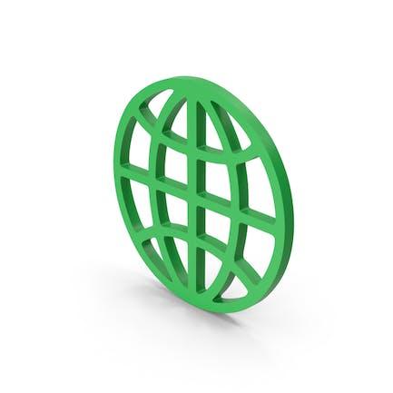 Символ Web зеленый