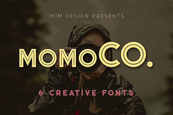 Thumbnail for Momoco - Display Font