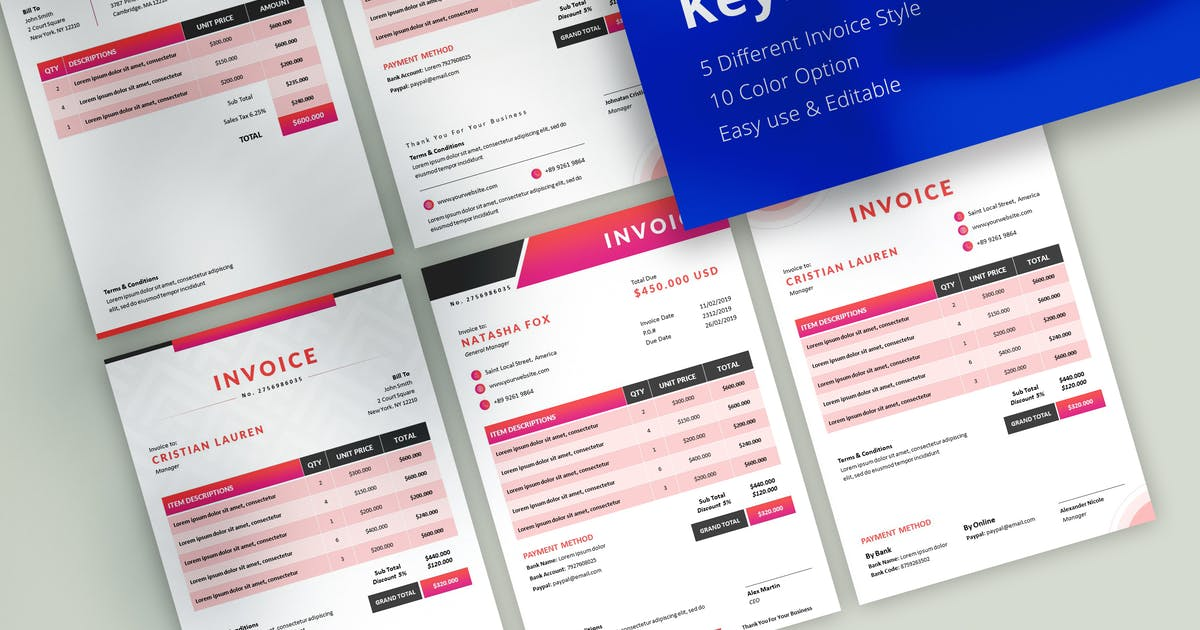 Download Professional Invoice Keynote Template by jegtheme