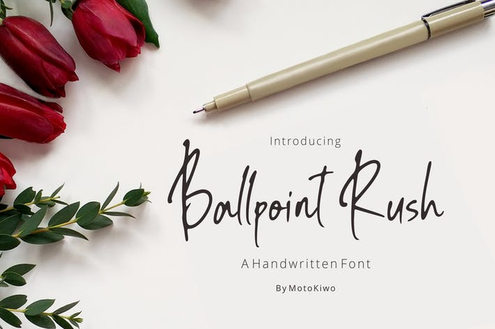Thumbnail for Ballpoint Rush, Handwritten Font