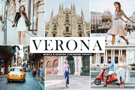 Verona Mobile & Desktop Lightroom Presets