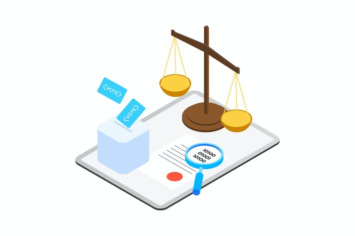 Thumbnail for Contrato Inteligente en Blockchain Isometric 11 - TU