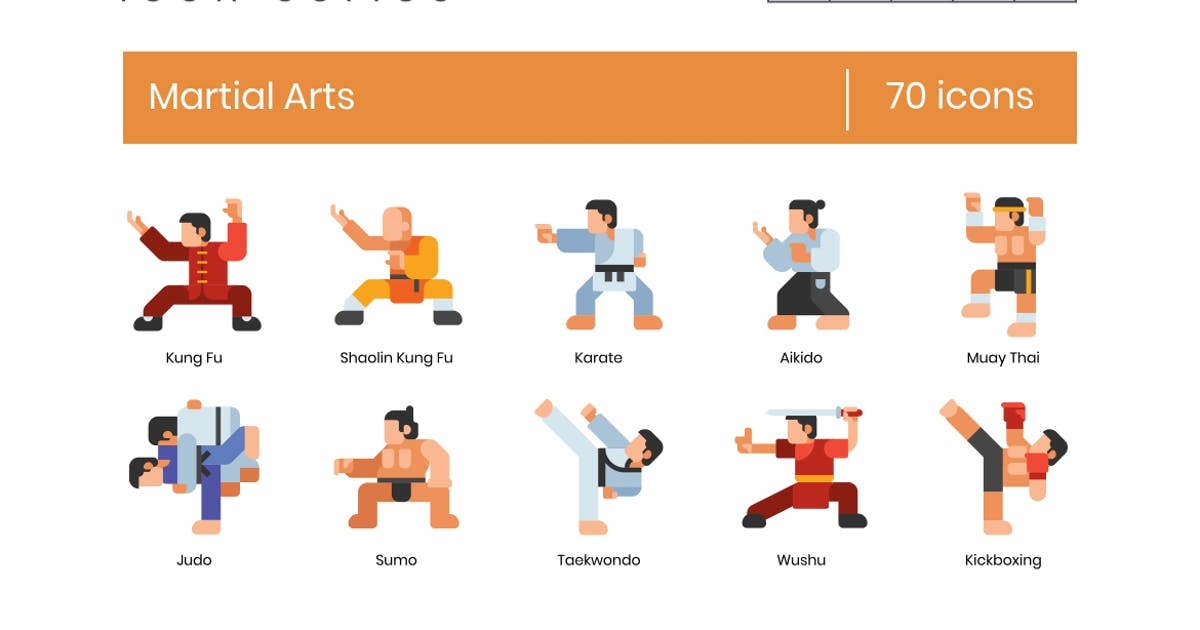 Download 70 Martial Arts Icons   Astute Series by Krafted