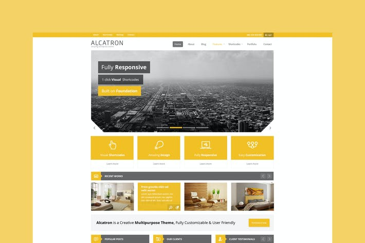 Thumbnail for Alcatron -Multipurpose Responsive Template