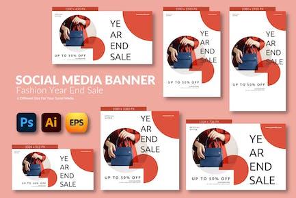 Fashion End Sale – Social Media Banner Template