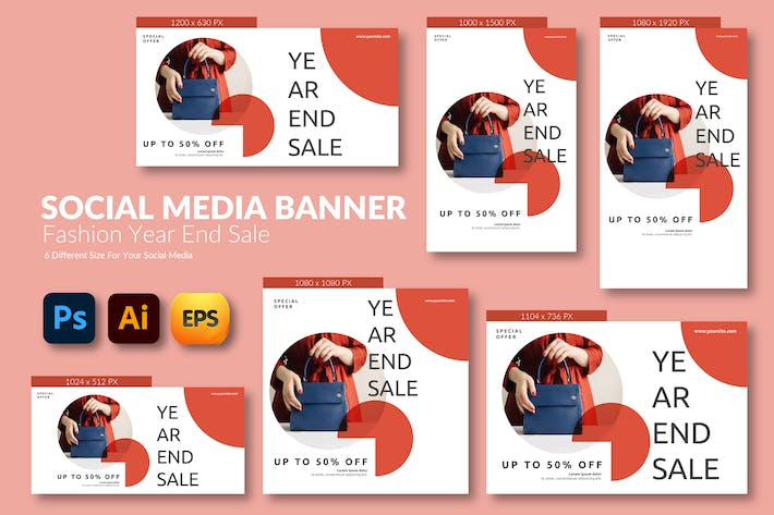 Fashion End Sale – Social Media Banner Template