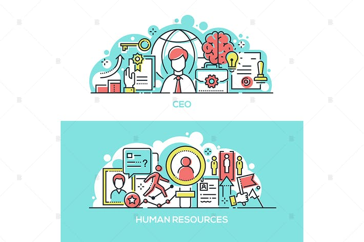 Thumbnail for Company CEO and human resources banners