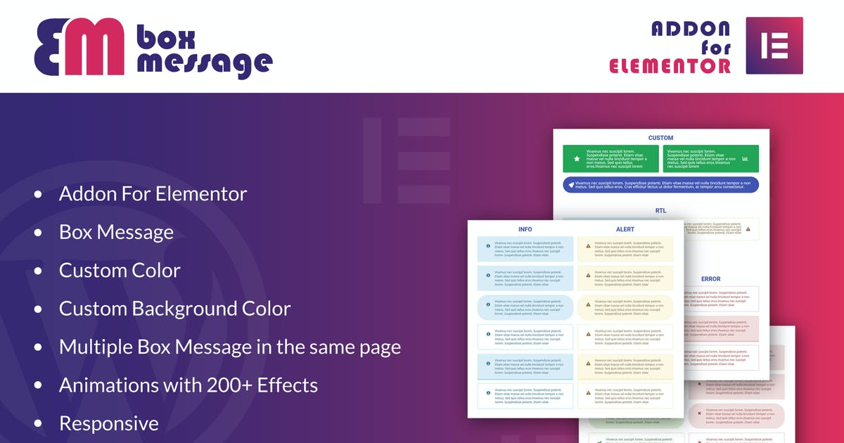 Download Box Message for Elementor WordPress Plugin by ad-theme