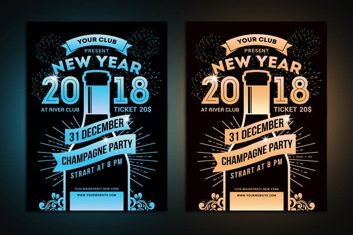 Thumbnail for New Year Champagne Party Flyer