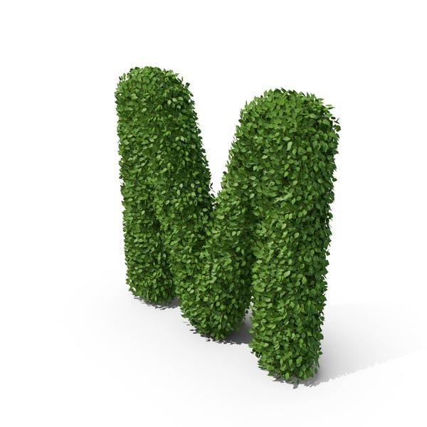 Hedge Shaped Letter M