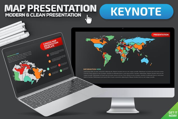 Map Keynote Presentation Template