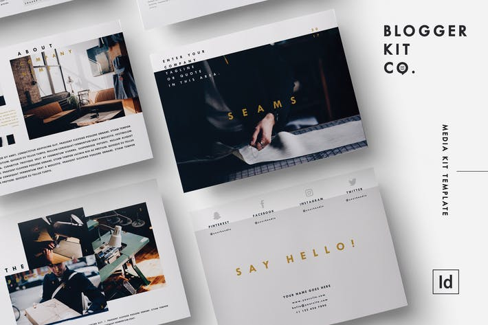 Media Kit Template 6 Pages Adobe Indesign Von Cokocreates Auf Envato Elements