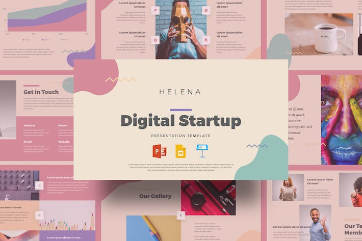 Thumbnail for Helena - Digital Startup Presentation Template