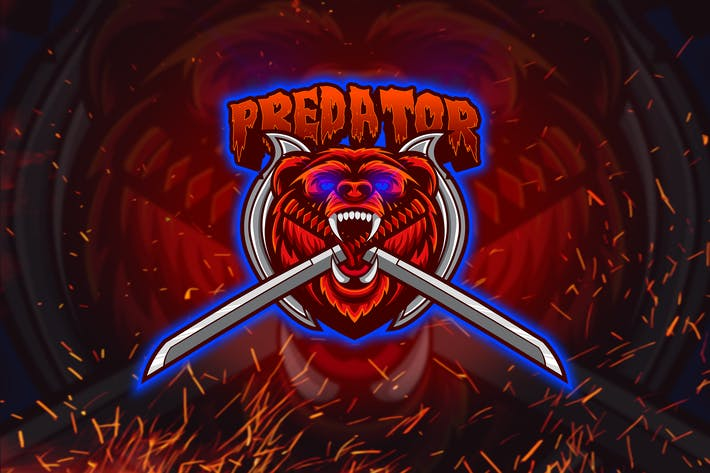 Thumbnail for Predator - Mascot Esport Logo YR