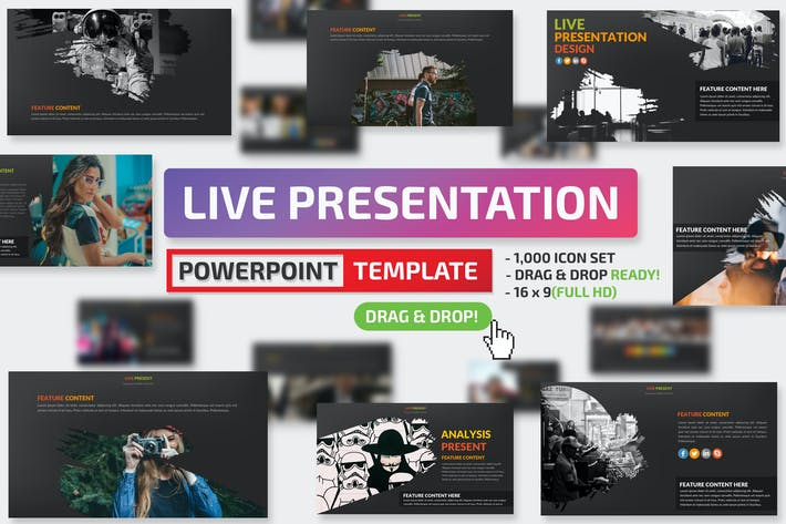 Thumbnail for Live Powerpoint Presentation Template