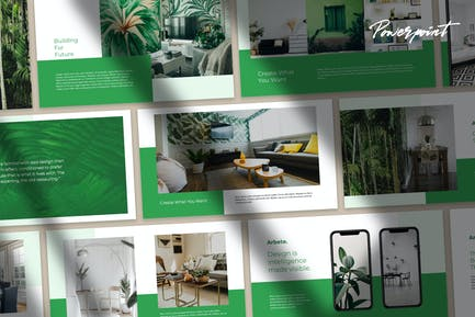 Arbete - Home & Interior Powerpoint Template