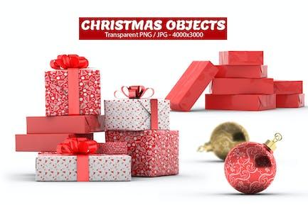 Christmas Gift Boxes & Bulbs