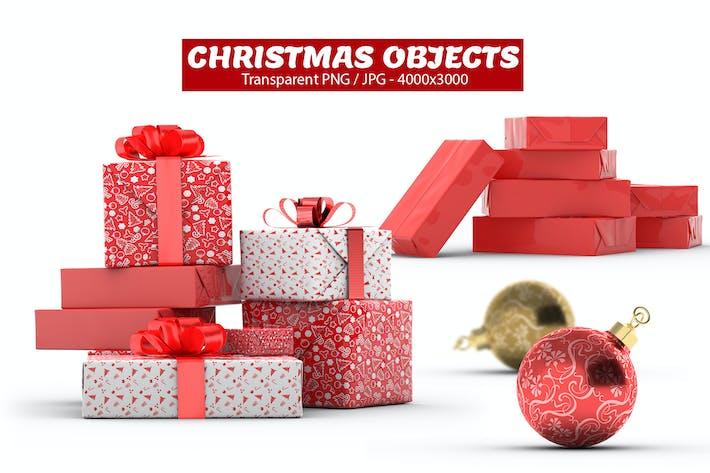 Thumbnail for Christmas Gift Boxes & Bulbs