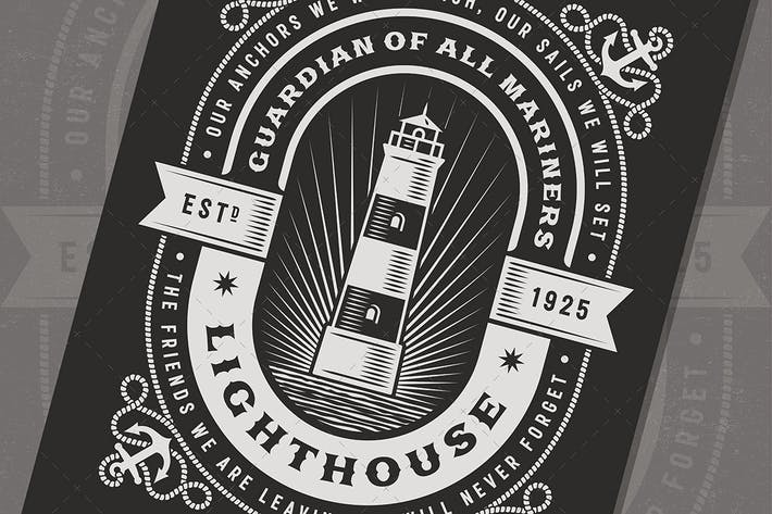 Thumbnail for Vintage Lighthouse Typography