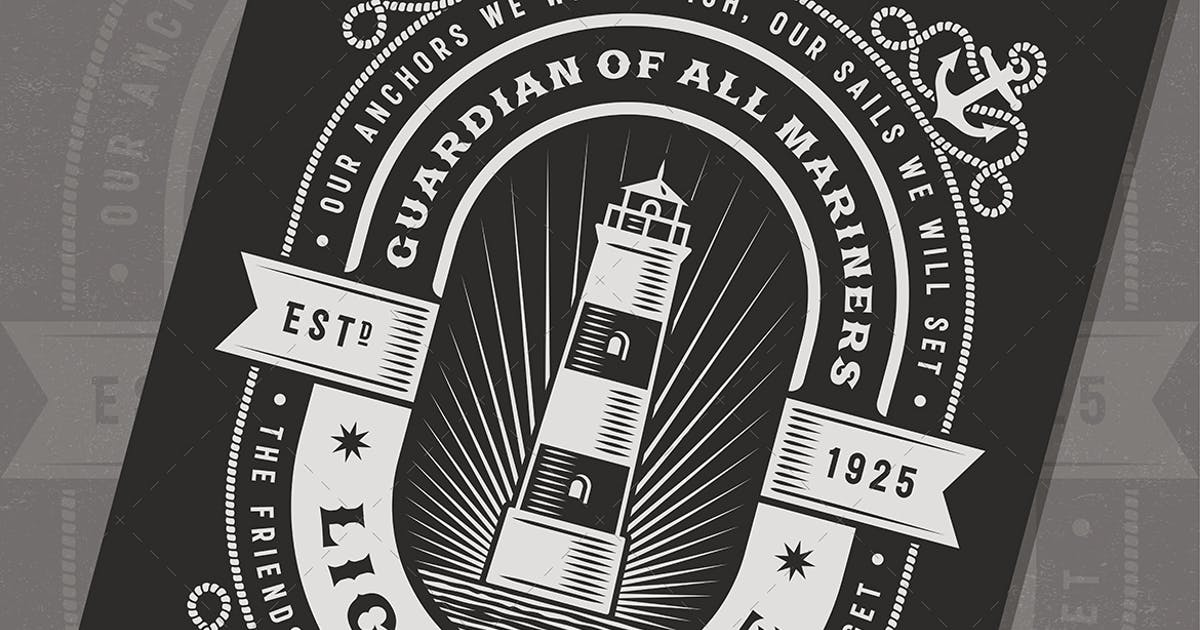 Download Vintage Lighthouse Typography by iatsun