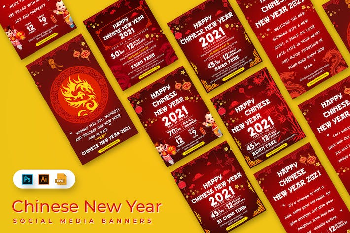 Thumbnail for Chinese New Year Social Media Banners