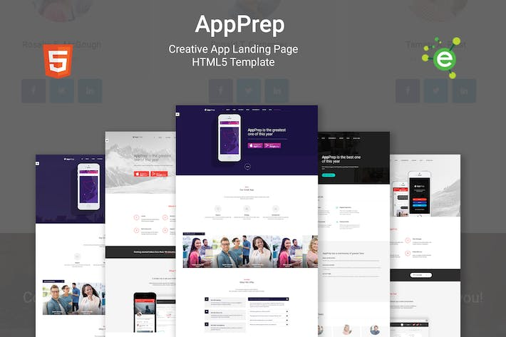 Thumbnail for AppPrep - App Landing Page HTML5 Template + RTL