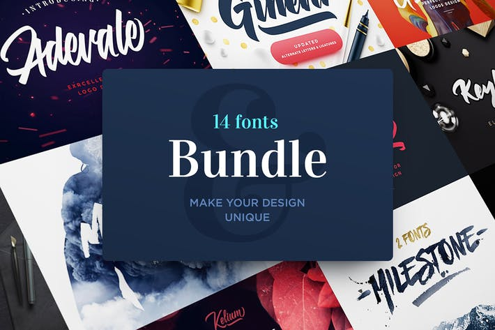 Thumbnail for Fonts Bundle.