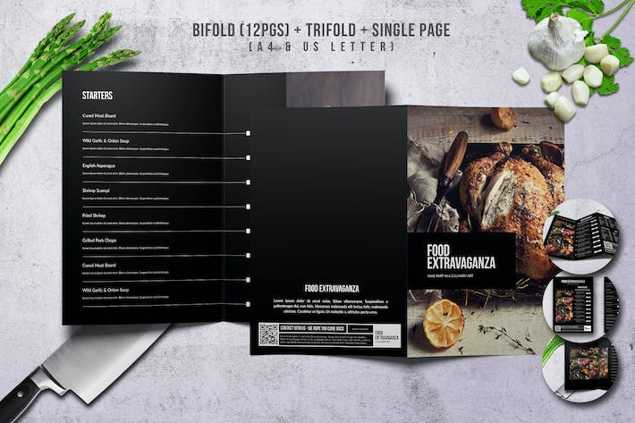Thumbnail for Multipurpose Extravaganza Menu Bundle A4 & US L