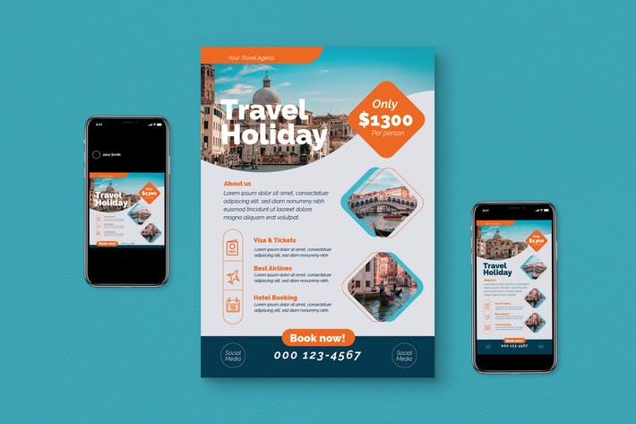 Holiday Travel Flyer Set