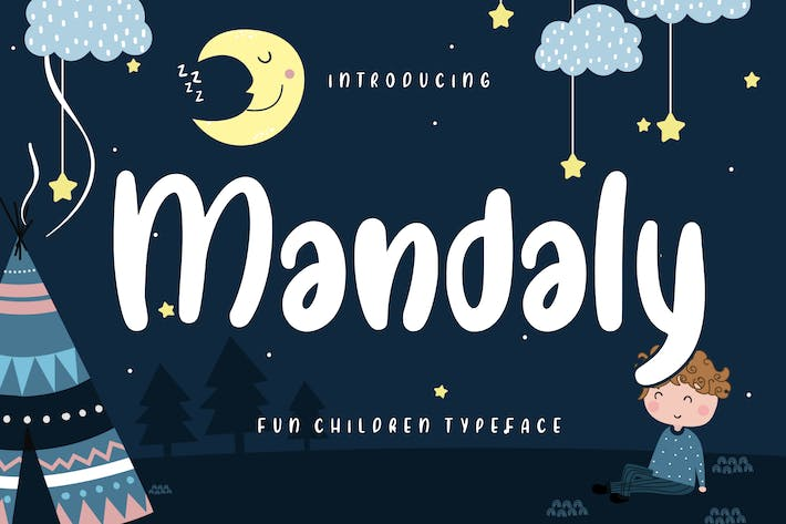 Thumbnail for Mandaly Fun Children Typeface