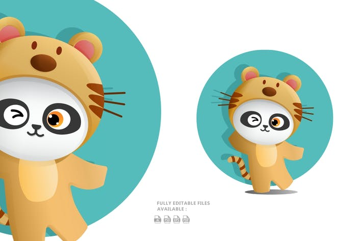 Thumbnail for Cute Panda Illustration