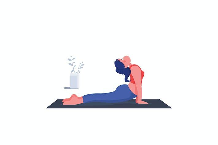 Thumbnail for Girl Yoga Flat Design Illustration
