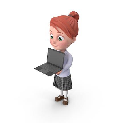 Мультфильм девушка Грейс с записной книжкой