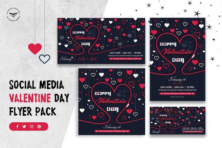 Cover Image For Valentines Day Social Media Template