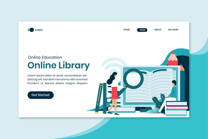 Thumbnail for Online Library Education Landing Page